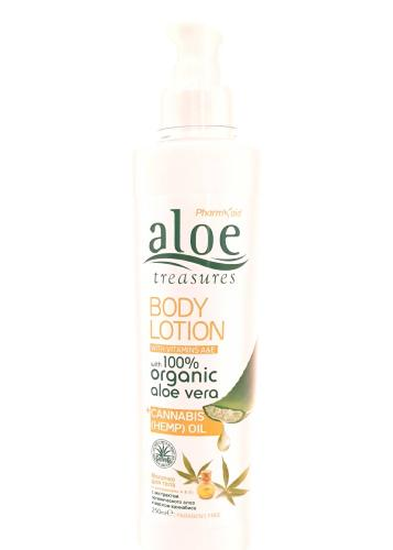 Body Lotion à l'aloe vera et cannabis PHARM'AID 250 g