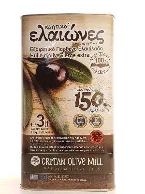 Huile d'olive Kritiki Elaiones extra vierge 3 litres