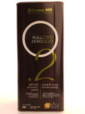 Huile d'olive ZEROTWO extra vierge 5 litres CABOSSE