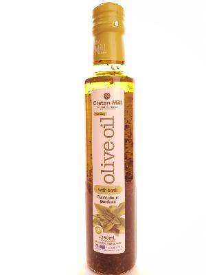 Huile d'olive aromatisée BASILIC